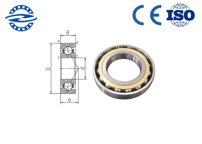 High Performance Angle Contact Ball Bearing , Single Row Radial Ball Bearing