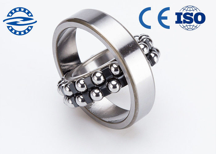 Two Row Self Aligning Ball Bearing Inner Ring / Low Friction Ball Bearings 1205 Gcr15
