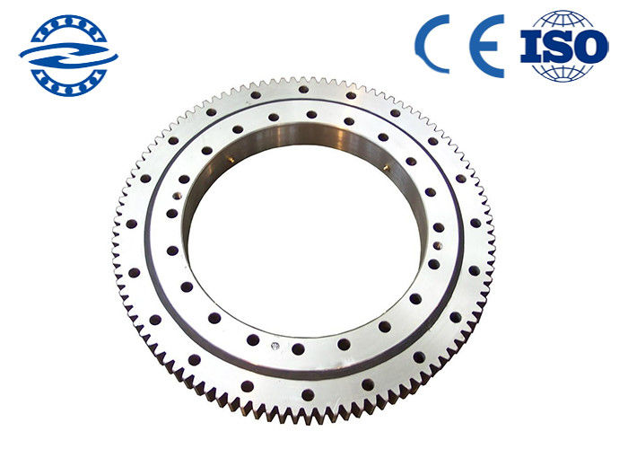 Single Row Four Point Contact Ball Slewing Bearing External Gear For Axial Load CRB3010