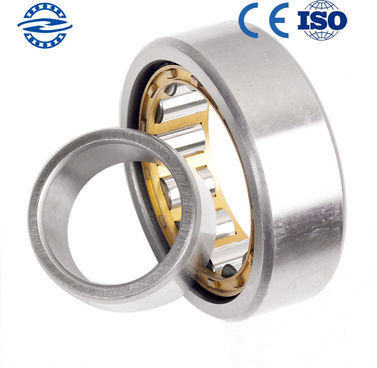 Low Friction NJ208 Cylindrical Roller Bearing / GCR15 Material Flanged Bearing