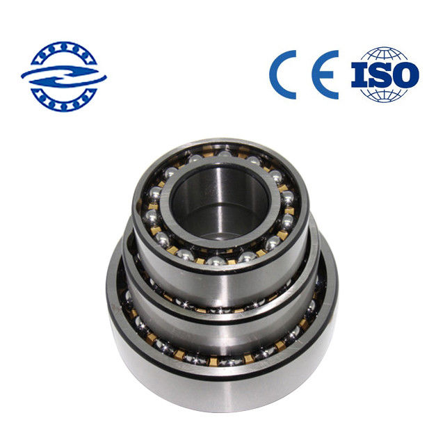 Steel / Brass Cage Double Row Angular Contact Ball Bearing Skf7005AC With 15 Degree High Precision