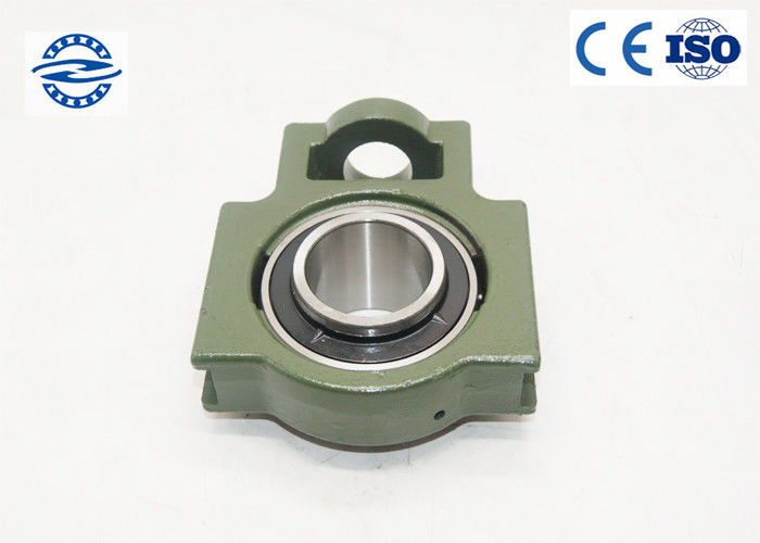 Green Pillow Ball Bearing UCT203 With Flange Mount Stainless Steel For Long Life