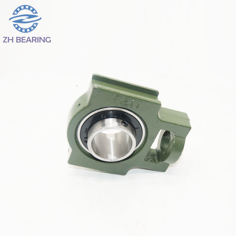 Green Pillow Ball Bearing UCT220 With Flange Mount Stainless Steel Long Life