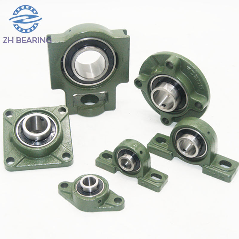 Green Pillow Ball Bearing UCT206 With Flange Mount Stainless Steel Long Life
