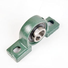 Green HRC60-63 Hardness Pillow Ball Bearing / Two - Bolt Flange Bearing