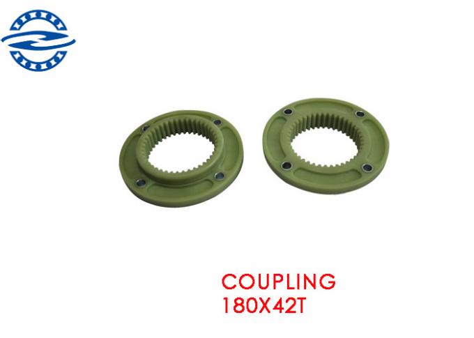 Green Colour Excavator Spare Parts Flexible Rubber Coupling OD 168 MM 25T 3H