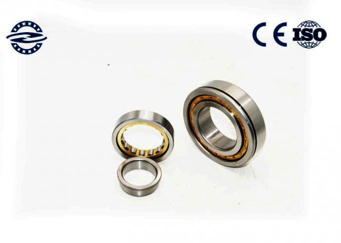 Low Friction NJ210 Cylindrical Roller Bearing / GCR15 Material Flanged Bearing 0