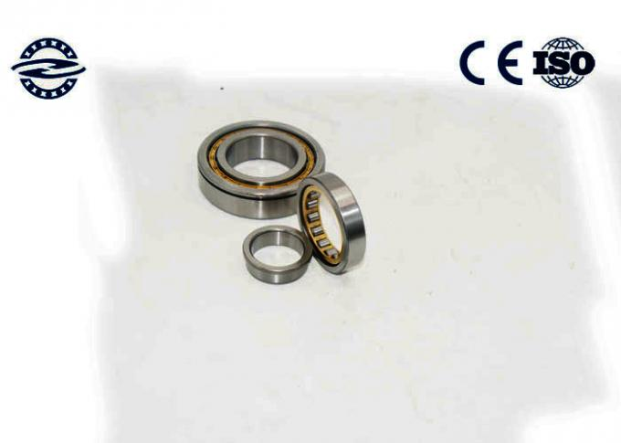 Low Friction NJ210 Cylindrical Roller Bearing / GCR15 Material Flanged Bearing 1