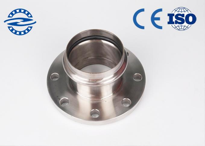 Forged Stainless Steel Bearing Inner Ring ,16mn Concrete Pump Pipe Flange For Chemical Industries 1