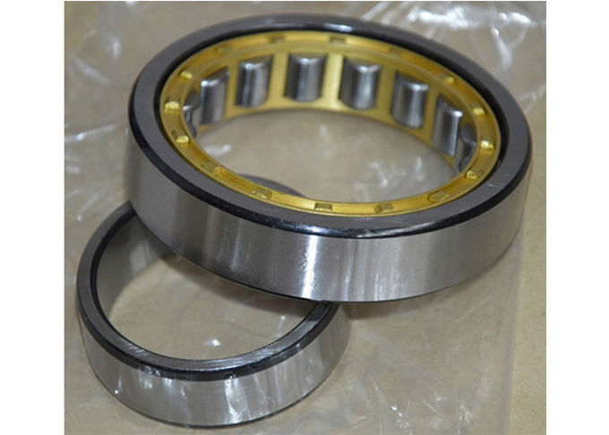 GCR 15 Chrome Steel Brass Cage Single Row Roller Cylindrical Bearing NU / NJ 224